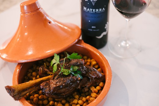 Moroccan Spiced Lamb Shanks with Roasted Garbanzo Beans
